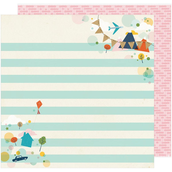 American Crafts - Shimelle - Go Now Go - Stroll - 12x12 Patterned Paper