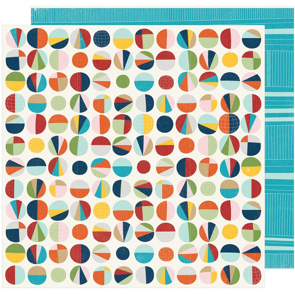 American Crafts - Shimelle - Go Now Go - Museum -  12x12 Patterned Paper