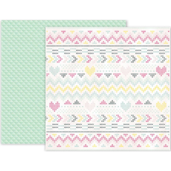 Pink Paislee - Take Me Away - 12x12 Patterned Paper - #3