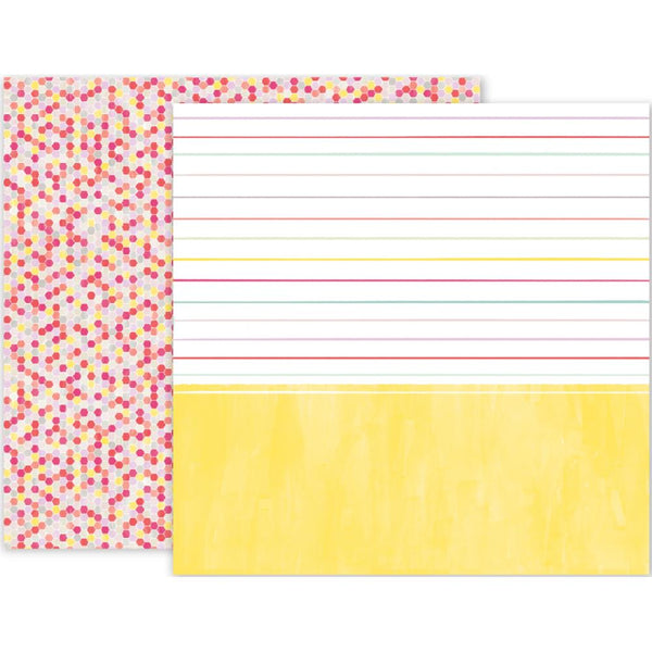 Pink Paislee - Take Me Away - 12x12 Patterned Paper - #12