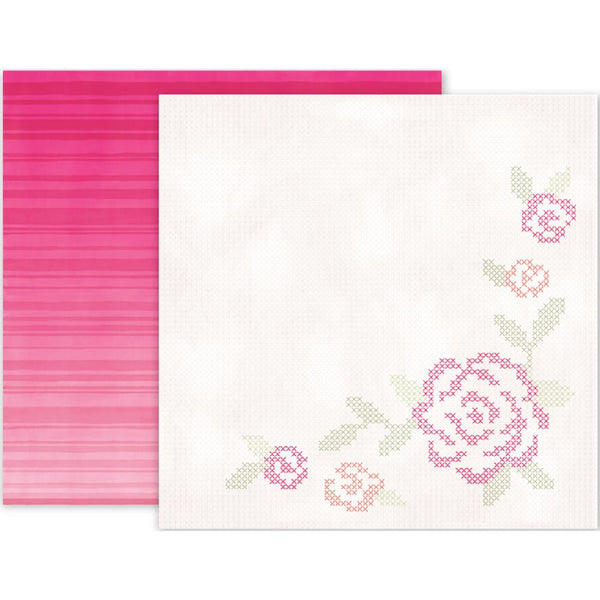 Pink Paislee - Take Me Away - 12x12 Patterned Paper - #14