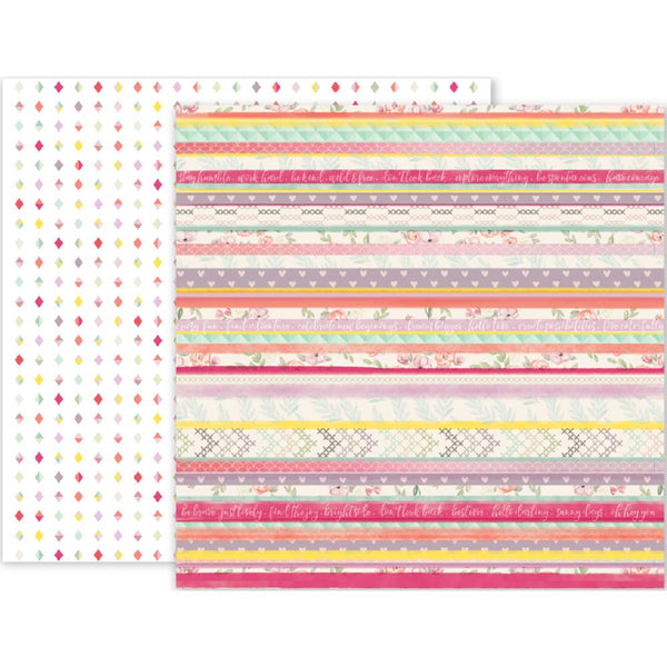 Pink Paislee - Take Me Away - 12x12 Patterned Paper - #19