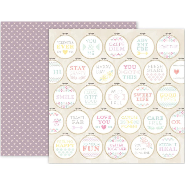 Pink Paislee - Take Me Away - 12x12 Patterned Paper - #20