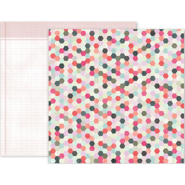 Pink Paislee - Take Me Away - 12x12 Patterned Paper - #22