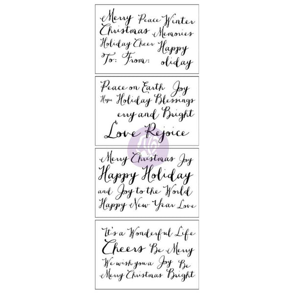 Prima Marketing - Christine Adolph - Christmas - Adhesive Rub-Ons - Holiday Greetings