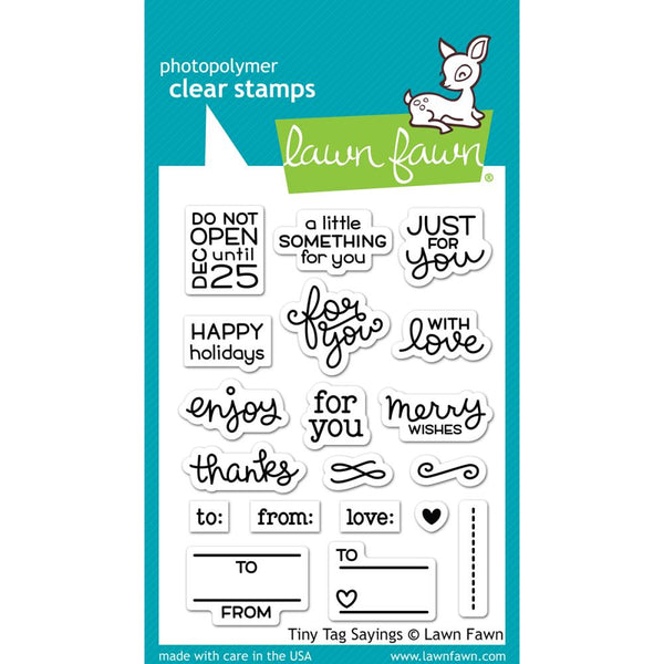 Lawn Fawn - Tiny Tag Sayings stamp set