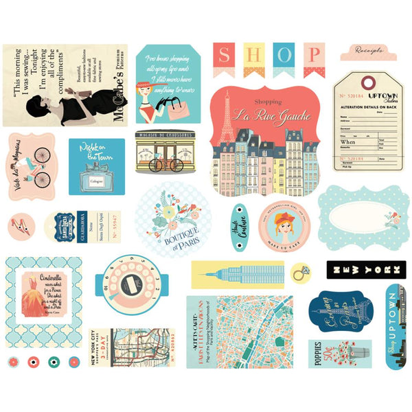 Carta Bella - Metropolitan Girl - ephemera die cut pack