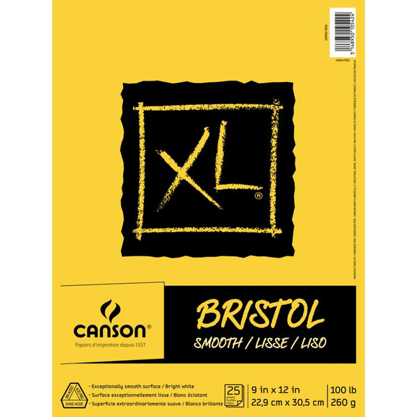 Canson - XL Smooth Bristol 9x12 paper pad
