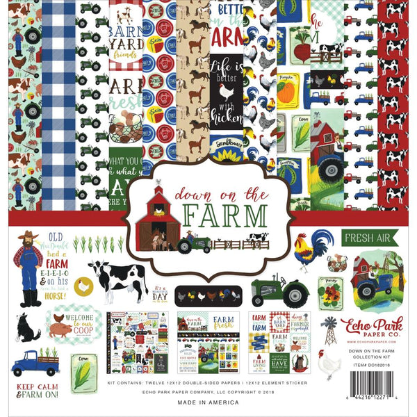 Echo Park - Down On the Farm - 12 x 12 Collection Kit