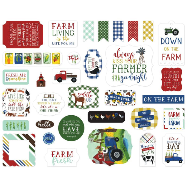 Echo Park - Down On The Farm - Ephemera Pack