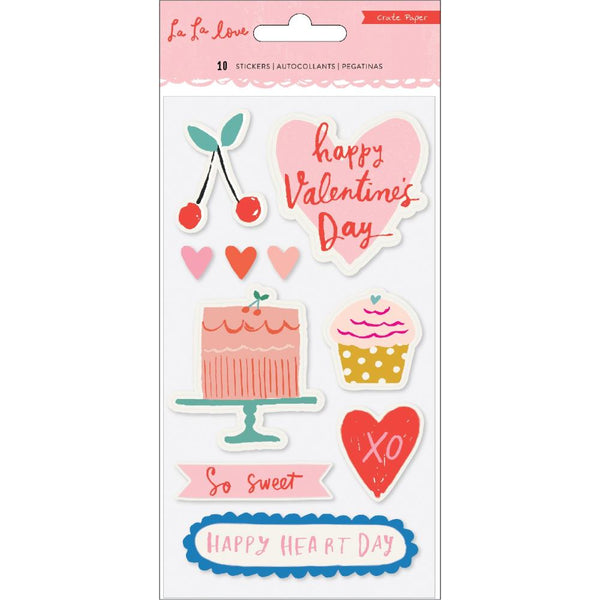 Crate Paper - La La Love - Embossed Puffy Stickers