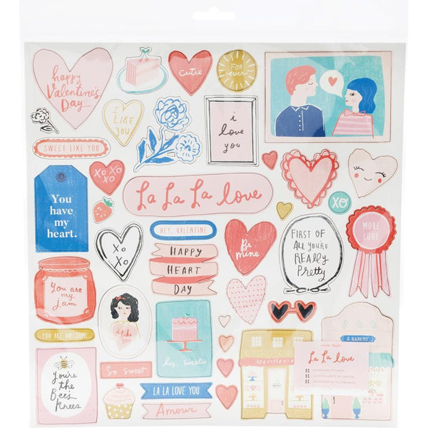 Crate Paper - La La Love - Chipboard Stickers 51/Pkg