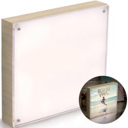 "We R Memory Keepers - PhotoLights - Wood Finish W/Acrylic Frame 8""X8"" Natural"