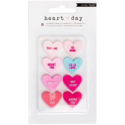 Crate Paper - Heart Day - Rubber Shapes 8/Pkg