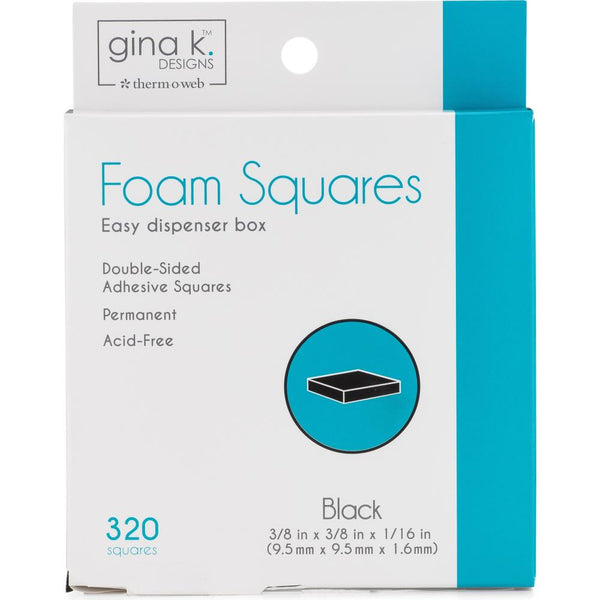 Gina K Designs - Foam Squares - Black