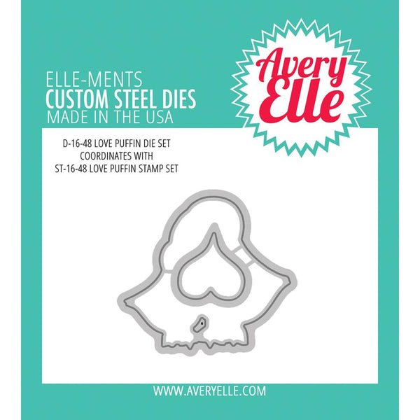 Avery Elle - Clear Stamp - Love Puffin die set