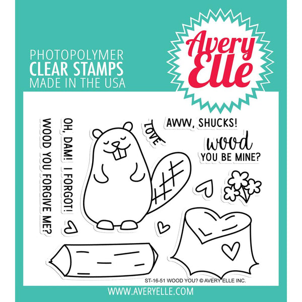 Avery Elle - Clear Stamp - Wood you?