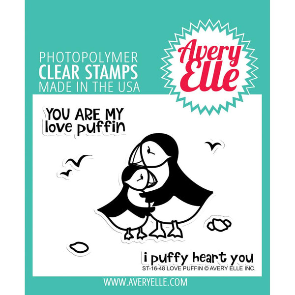Avery Elle - Clear Stamp - Love Puffin stamp set