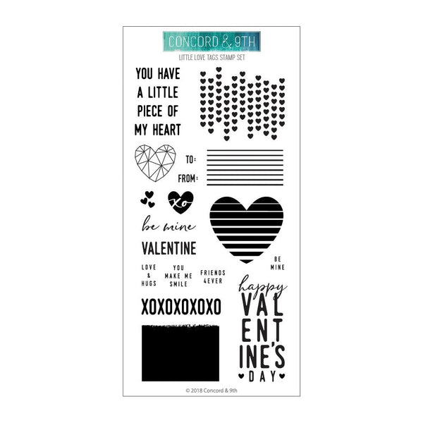 Concord & 9th - Little Love Tags - Stamp Set