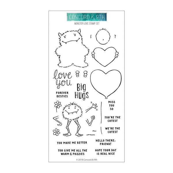 Concord & 9th - Monster Love - Stamp Set