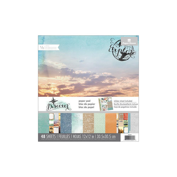 "Paper House - Discover - 12""x12"" paper pad w/ Foil accents"
