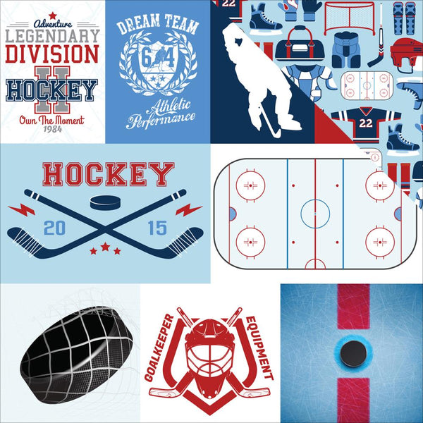 Echo Park - Hockey - Journaling Cards  pattern paper