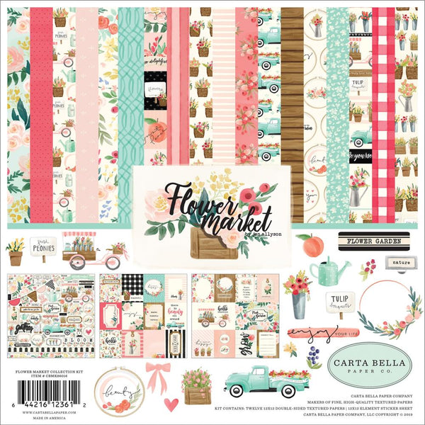 Carta Bella - Flower Market - 12 x 12 Collection Kit
