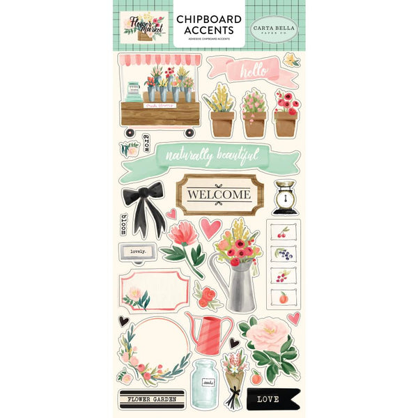 Carta Bella - Flower Market - Chipboard Accents