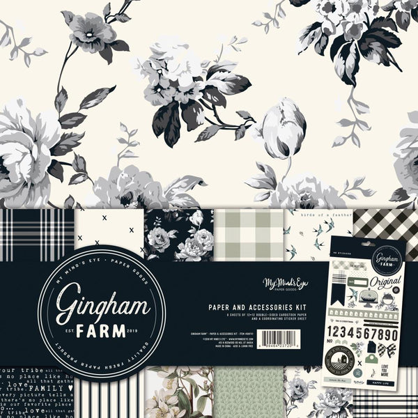 My Mind's Eye - Gingham Farm - Paper & Accessory Kit