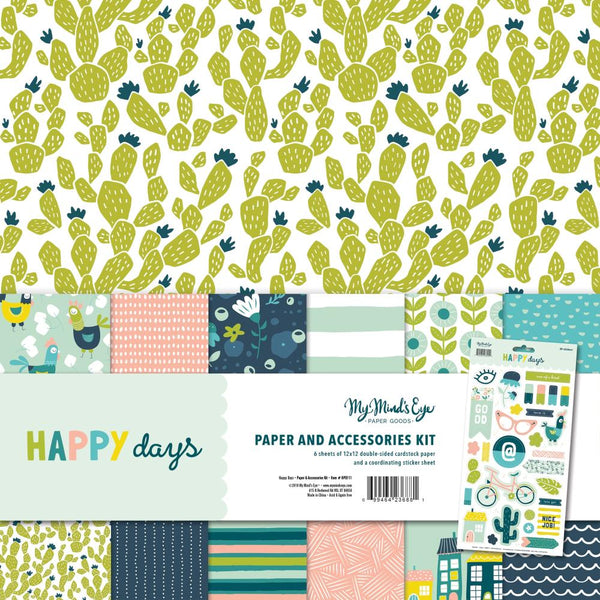 My Mind's Eye - Happy Days - Paper & Accessories Kit