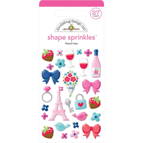 Doodlebug Design - French Kiss - Shape Sprinkles