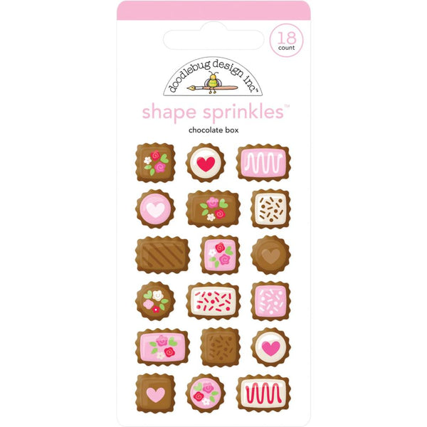 Doodlebug Design - Chocolate Box - Shape Sprinkles