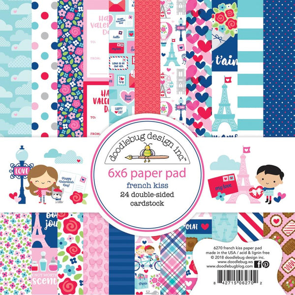 Doodlebug Design - French Kiss - 6x6 Paper Pad