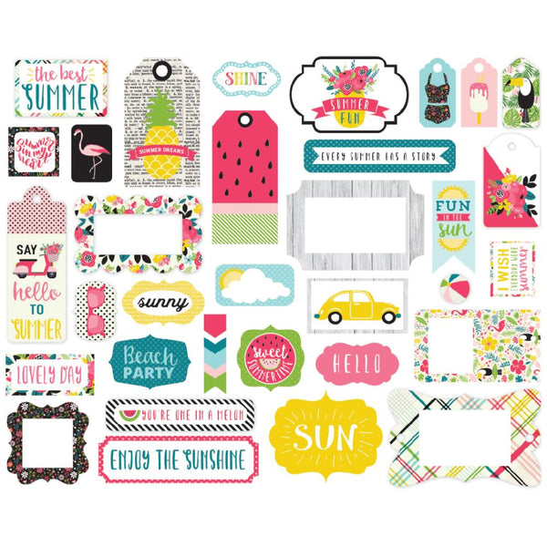 Echo Park - Summer Fun - Icons Ephemera pack