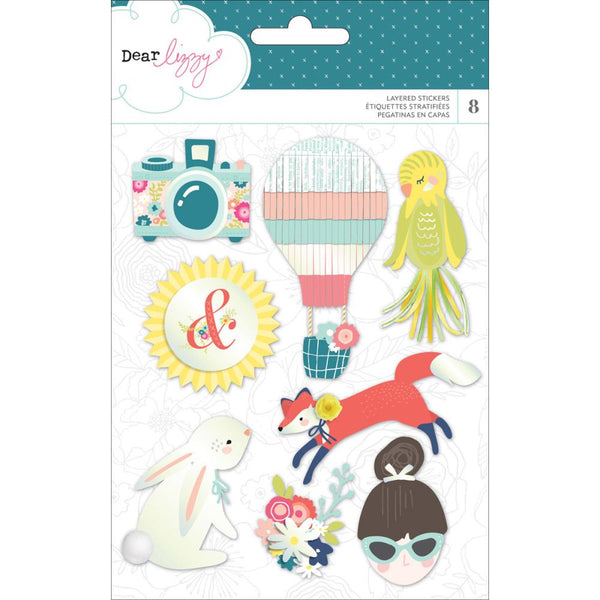 Dear Lizzy - Lovely Day - Layered Stickers 8/pcs