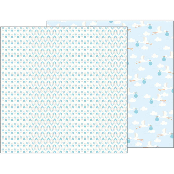 Pebbles - Lullaby - Baby Boy Delivering Baby Boy pattern paper