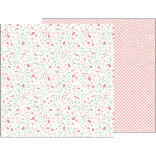 Pebbles - Lullaby - Baby Girl Blossoms pattern paper
