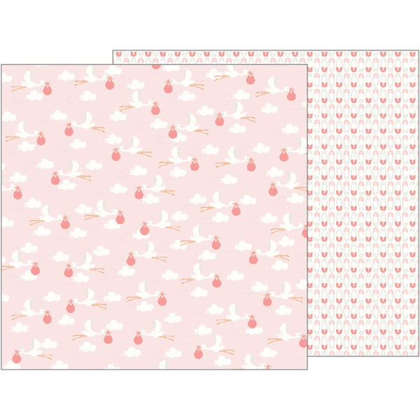 Pebbles - Lullaby - Baby Girl Delivering Baby Girl pattern paper