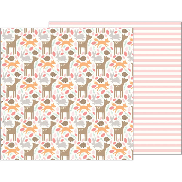 Pebbles - Lullaby - Baby Girl Woodland pattern paper