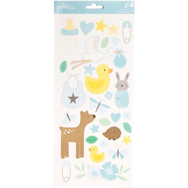 Pebbles - Lullaby - Baby Boy Cardstock stickers