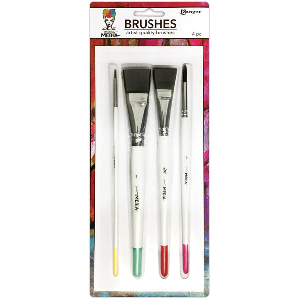 Ranger - Dina Wakley Media - Brushes 4/pk
