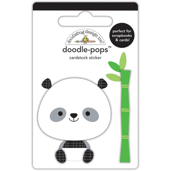 Doodlebug Design - At The Zoo - Polly Panda Doodle-Pops 3D sticker