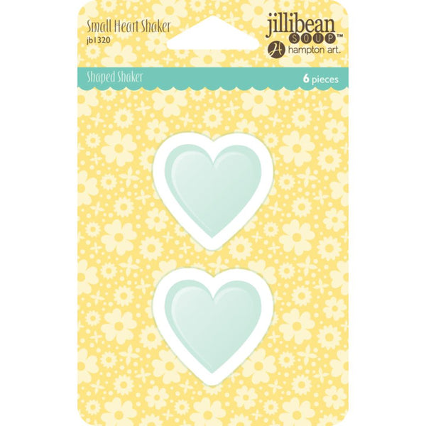 Jillibean Soup - PVC Card Shakers 6/pkg - Small Hearts
