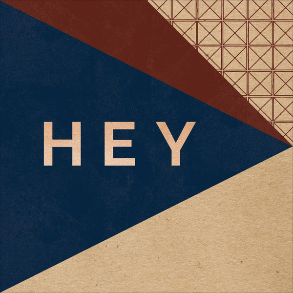 My Minds Eye - Hey Mister - Hey There Kraft pattern paper w/Copper Foil