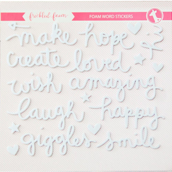 Freckled Fawn - Foam Stickers - White Words
