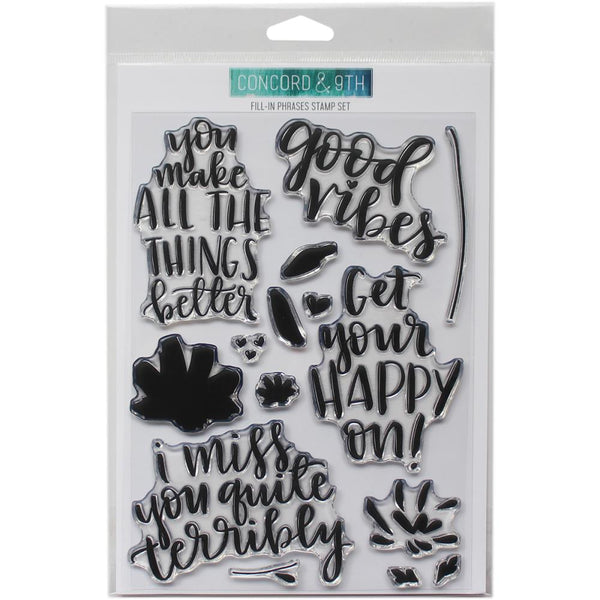Concord & 9th - Fill-In Phrases stamp set