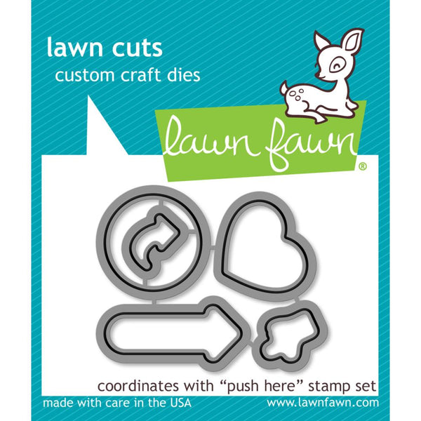 Lawn Fawn - Lawn Cuts - Push Here die set