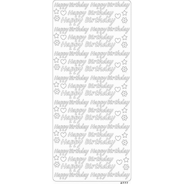 Papicolor - Peel Off Gem Stickers - Happy Birthday Gold