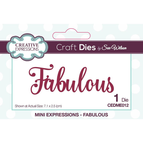Creative Expressions - Craft Dies By Sue Wilson - Fabulous
