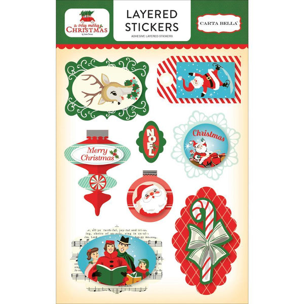 Carta Bella - A Very Merry Christmas - Layered Stickers